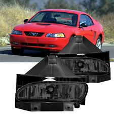 For 1999-2004 Ford Mustang Fog Lights Driving Lamps GT V6 Smoke Bumper Lamps