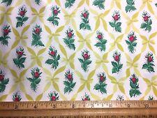 "Vintage Cotton Fabric 30s40s SWEET ""Rosebud Diamonds"" Waverly 36w 1yd"
