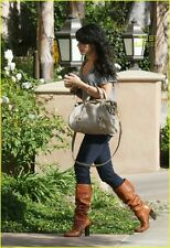 £160 MISS SIXTY DANCE CHESTNUT TAN BROWN LEATHER PIRATE KNEE HIGH BOOTS 7 40 9