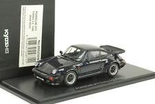 1988 PORSCHE 911 930 Turbo 3.3 openable BONNET REAR lid Blu in Metallo 1:43 KYOSHO