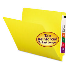 Smead Colored File Folders Straight Cut Reinforced End Tab Letter Yellow 100/Box