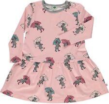 Smafolk Langarm Kleid rosa Hasen mit Regenschirm 7-8 Jahre (Gr.122-128) !!Neu!!