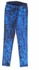 Damen-Jeans aus Denim mit Glanz-Effekt Hosengröße W28