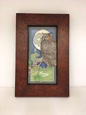 Medicine Bluff Night Owl Art Tile Arts & Crafts Mission Style Oak Park Frame