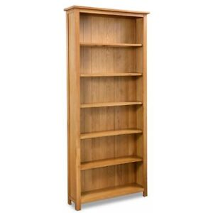 1.8m Wooden Home Office Book Shelf Bookcase Ornaments Display DVD Storage Stand