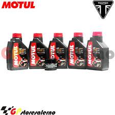 TAGLIANDO OLIO + FILTRO MOTUL 7100 10W30 TRIUMPH 600 TT 2000