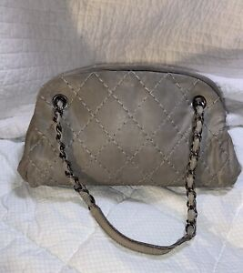 CHANEL Preowned Chain Shoulder Bag Gray