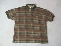 VINTAGE Tommy Hilfiger Polo Shirt Adult Extra Large Brown Green Crest Rugby 90s