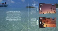 COOK ISLANDS FOLDER 2 SCHEDE  ANNO 1992 NUOVE TIRATURA 1000 SET RARITA'