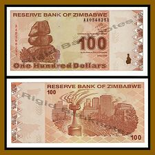 Zimbabwe 100 Dollars, 2009 P-97 Revised Trillion Unc