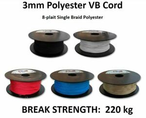 Australian Made 3mm Polyester VB Cord *PER METRE* Venetian Blind Rope String