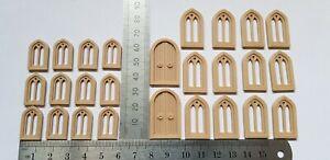 OO Gauge 1:76 Scale church style railway windows & doors