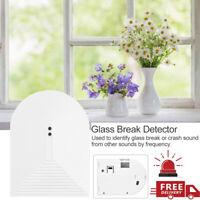 Wireless Glass Broken Vibration Sensor Detector Home Security Burglar Alarm Hot