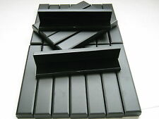 NEW 50 x LARGE BLACK HINGED GIFT BOXES FOR WATCH / BRACELET / NECKLACE