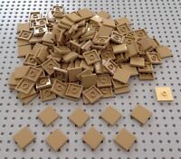 Lego Dark Tan 2x2 Flat Tile (3068) x20 *NEW* City Minecraft Star Wars Marvel