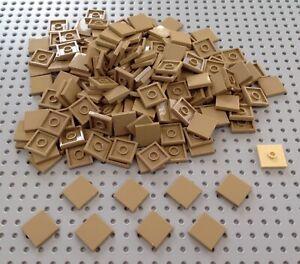 Lego Dark Tan 2x2 Flat Tile (3068) x20 *NEW* City Minecraft Star Wars Marvel