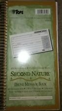 Tops Second Nature Phone Call Book, 2 3/4 x 5, Two-Part Carbonless, 380