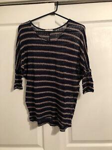 Crochet See Through Knit Shirt Lush Small/ Medium