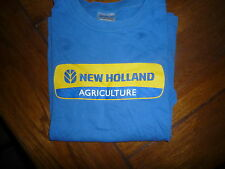 tee shirt New Holland bleu et jaune occasion 10 12 ans