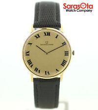 Vintage Universal Geneve 46643 18K Yellow Gold Case Hand Winding Men's Watch