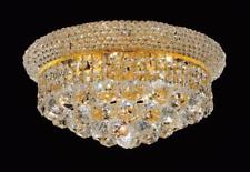 Modern Iron k9 Crystal Chandelier Ceiling Pendant Light Lamp Gold 45X27cm UK