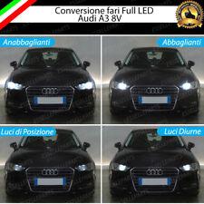 CONVERSIONE FARI FULL LED AUDI A3 8V 6000K XENON LED CANBUS H7 + H15 + T10 W5W