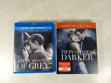 Fifty Shades Of Grey & Fifty Shades Darker Blu-Ray Unrated Editions Lot
