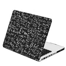 "Black Physics Formulas Matte hard Case for Macbook Pro 13"" Model: A1278"