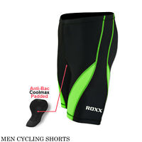 Mens Cycling Shorts padded Compression Outdoor Bicycle Tight Shorts ROXX Sports