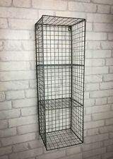Retro Industrial Style Wire Wall Shelf Shelving Unit Metal Storage Vintage New