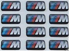 10x BMW Felgen Tacho Lenkrad 3D Emblem Auto Aufkleber Car Sticker für M3 M5 M6