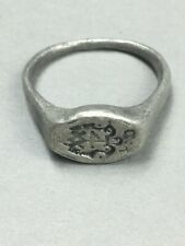 Medieval silver ring around the 15 -17th century AD