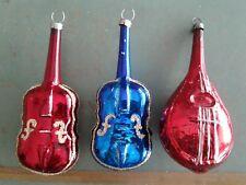 New ListingAntique Vintage Glass Christmas Ornaments Musical String Instruments Mandolin