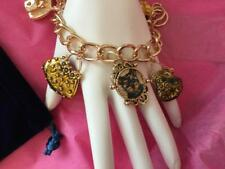 GORGEOUS  YORKIE PUPPY  HAND PAINTED CHARM BRACELET !