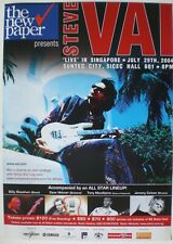 Steve Vai 2004 Singapore Concert Tour Poster - Progressive Hard Rock Guitarist