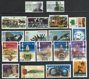 20 Used Canada Stamps from 2003