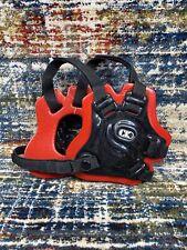 Cliff Keen F5 Tornado Wrestling Headgear - Red/Black Adjustable Adult One Size