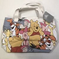 Disney Winnie the Pooh and Friends Canvas Tote Bag NEW