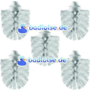 WC-Ersatz-Bürstenkopf Ersatzbürstenkopf Bürste weiß 5 stk passend zu SMEDBO H233