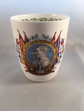 Royal Doulton China 1937 Coronation George VI Beaker for Scarborough Corporation