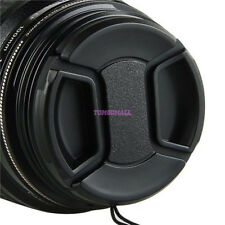 77mm Lens Cap - Snap on Clip on with String for Camcorders Cameras f Canon Nikon