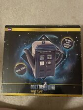 Doctor Who Tardis Teapot Ceramic. Brand New With Sculpted Detail