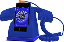 Ice Phone Smartphone Retro Handset Phone Accessory Gift Present Rubberised BLUE