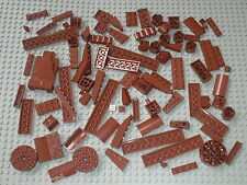 Vrac bulk de 90 briques plaques pieces LEGO RedBrown / Star wars castle ....