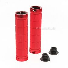ROCKBROS Bike MTB Grips Fixed Gear Fixie Lock-on Grips Rubber Red