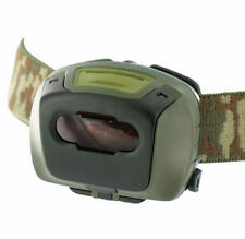 LED TACTICAL HEAD TORCH LAMP RED FILTER EMERGENCY FLASHING MODE ARMY CADET FIELD