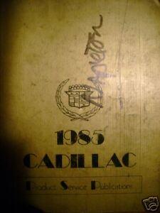 1985 Cadillac Product Service Publications Book Manual