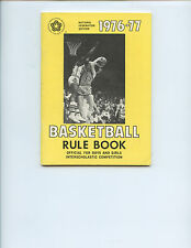 """1976-77 """"BASKETBALL RULE BOOK"""" FOR BOYS & GIRLS INTERSCHOLASTIC COMPETITION"""