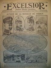 WW1 N° 1929 BATAILLE DE VERDUN ARMéE RUSSE COSAQUES ET L'HIVER EXCELSIOR 1916
