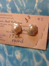 Wild White Flower Baroque 17mm Pearl Earrings SS Post #2